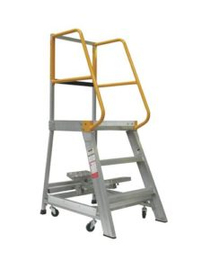 GPO 3 - 3 ft Order picking Ladder Aluminium 200 kg Industrial
