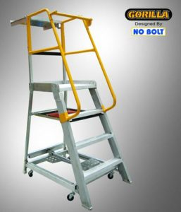 GPO 4 - 4 ft Order picking Ladder Aluminium 200 kg Industrial