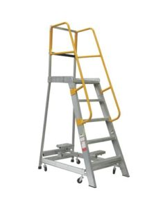 GPO 5 - 5 ft Order picking Ladder Aluminium 200 kg Industrial