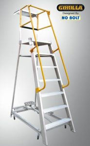 GPO 7 - 7 ft Order picking Ladder Aluminium 200 kg Industrial